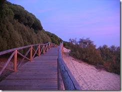 atardecer en la playa de Nuevo Portil