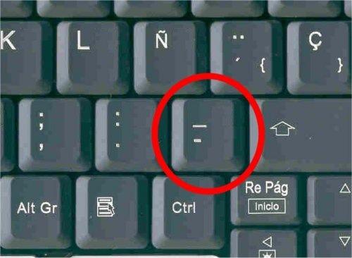 como escribir guion bajo en el teclado cook top