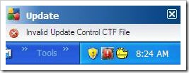 Invalid Update Control CTF File