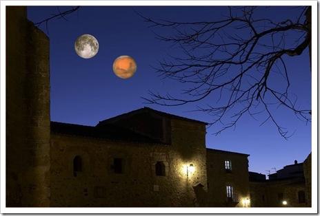 noche doble luna - marte luna llena