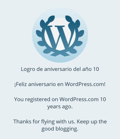 10 años en WordPress.com