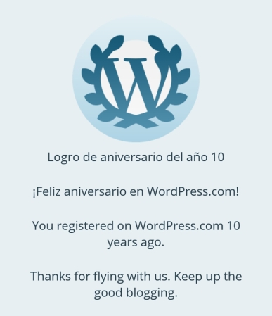 10 años en WordPress.com
